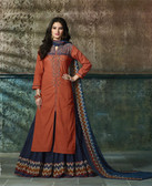 Enchanting & Lively Light Maroon colored Pure Cotton Printed Suit