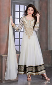 Modern Diva Off White Color Anarkali Suit