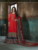 Enchanting & Lively Shine orange colored Pure Cotton Printed Suit