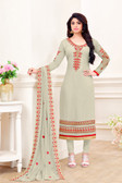 Enchanting & Lively Grey Colored Georgette Salwar Suit