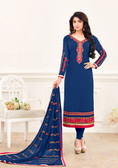 Enchanting & Lively Blue Colored Georgette Salwar Suit