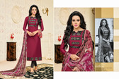 Timeless & Classy Deep Purple Colored Chanderi Cotton Salwar Suit