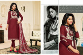 Timeless & Classy Deep Maroon Colored Chanderi Cotton Salwar Suit