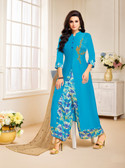 Classy & Stylish Blue Color Ananya Silk Suit