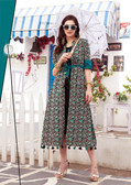 Colorful & Lovely Green Colored Cotton Printed Readymade Kurti