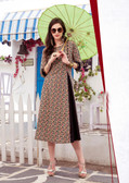 Colorful & Lovely Black & Multi Colored Cotton Printed Readymade Kurti