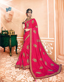 Modern & Catchy Pink Colored Dual Tone Silk Designer Saree