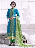 Chic & Trendy Blue Colored Khadi Cotton Suit