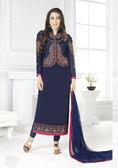 Incredibly Charming Blue Color Georgette Suit