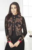 Incredibly Charming Black Color Georgette Suit