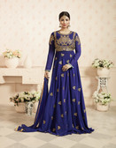 Charming & Trendy Navy Blue Colored Georgette Anarkali Suit