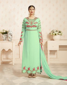 Charming & Trendy Pista Colored Georgette Anarkali Suit