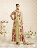 Charming & Trendy Biege Colored Georgette Anarkali Suit