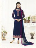 Elegant & Catchy Navy Blue Colored Georgette Suit