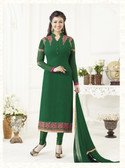 Elegant & Catchy Green Colored Georgette Suit