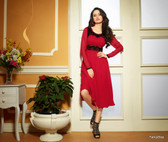 Red Color Pure Bamberg Georgette Kurti Dress
