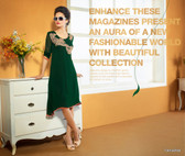Green Color Pure Bamberg Georgette Kurti Dress