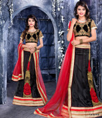 Glamorous & Stylish Black Color Net Lehenga