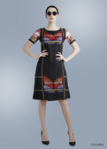 Lovely & Stylish Premium Black Color Georgette Kurti