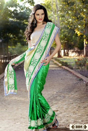 Dashing Elegant Designer Sarees Green