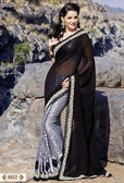 Dashing Elegant Designer Sarees Black and Silver