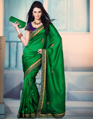 Simplistic Beauty Designer Saree Green