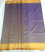 Beautiful Blue & Orange Color Tanchoi Silk Saree