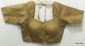 Designer Padded Saree Blouse Choli Copper Gold Halfsleeves Ships From USA
