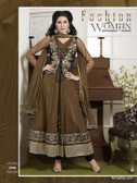 Premium Salwar With Zari Work and Embroidery Designer Work Chocolate