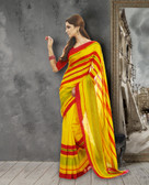 Stylish & Casual Yellow Color Premium Bhagalpuri Silk Saree