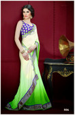 Premium Contemporary fashion color collection Saree Light Green