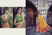 Graceful & Elegant Yellow & Pink Color Net & Bamberg Georgette Saree