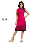 Fascinating Pink Colored Rayon Kurti