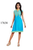 Fascinating Blue Colored Rayon Premium Kurti