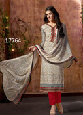 Casual & Colorful Beige Colored Pure Lawn Cambric Printed Premium Suit