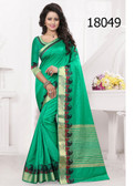 Elegant & Vibrant Green Colored Banarasi Silk Premium Saree