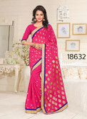 Gorgeous & Stylish Pink Colored Georgette Saree