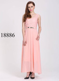 Ultra-chic Peach Colored Georgette Silk Gown