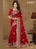 Gorgeous & Lively Red Colored Georgette Saree