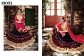 Exquisite & Timeless Black Colored Georgette Lehenga