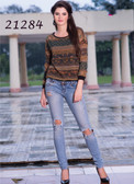 Beautiful & Chic Brown Colored Georgette Top