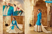 Vibrant & Graceful Blue Colored Banarasi Silk Suit Or Lehenga