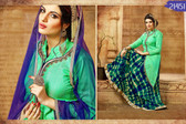 Vibrant & Graceful Green Colored Banarasi Silk Suit With Lehenga