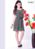 Stylish & Cool Black Colored Viscose Georgette Kurti