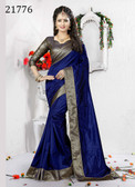 Delightful & Charming Blue Colored Art Silk Designer Saree