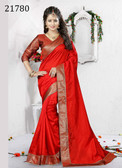 Delightful & Charming Red Colored Art Silk Saree