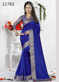 Delightful & Charming Blue Colored Art Silk Premium Saree