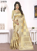 Elegant & Alluring Beige Colored Banarasi Silk Saree