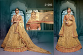 Stunningly Attractive Beige Colored Silk Designer Lehenga