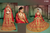 Stunningly Attractive Red Colored Silk Premium Lehenga